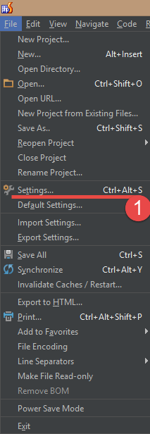 Open PHPStorm settings