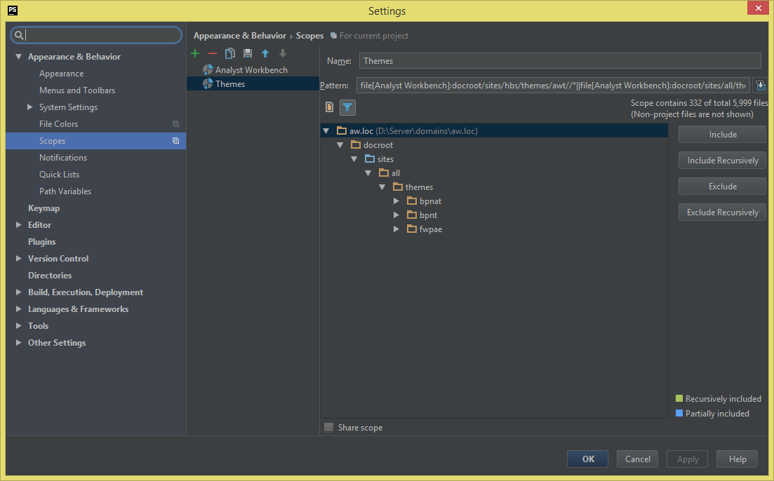 phpstorm-scopes-settings